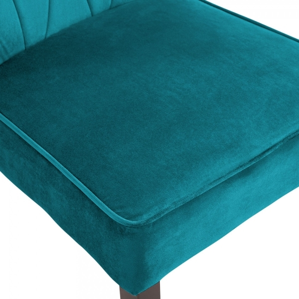 Phenomenal Chancery Wingback Dining Chair Velvet Upholstered Teal Lamtechconsult Wood Chair Design Ideas Lamtechconsultcom