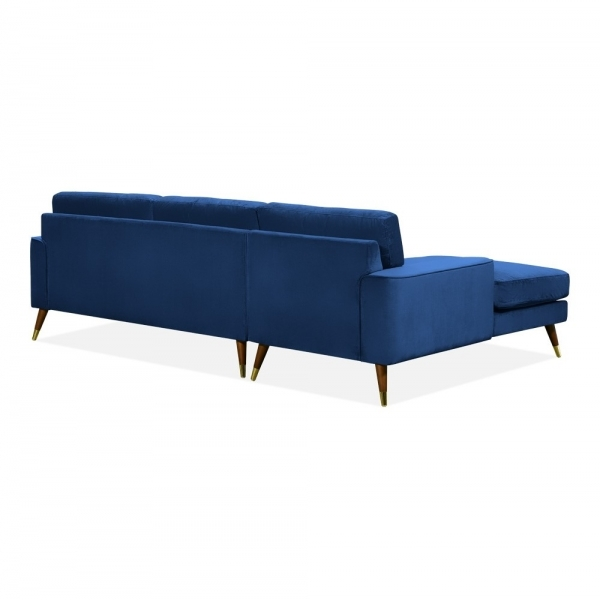 Superb Cult Living Charlotte Left Hand Chaise Corner Sofa Velvet Upholstered Royal Blue Gmtry Best Dining Table And Chair Ideas Images Gmtryco