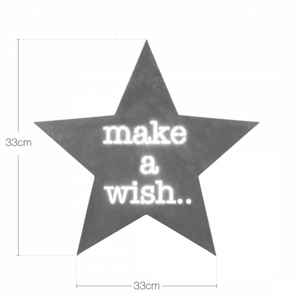 Cult Living Clic Star Light Box Make A Wish