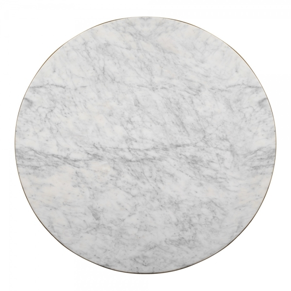 White Marble Claudia Round Table Top, Marble Round Table Top