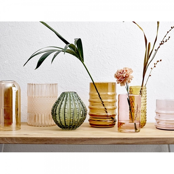 Tall Decorative Brown Glass Vase Modern Home Accessories