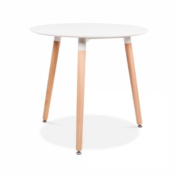 Cult Living Edelweiss Table With Beech Wood Legs Round 80cm
