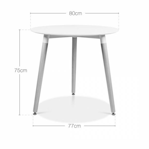 Superb Cult Living Edelweiss Table With Beech Wood Legs Round 80Cm Frankydiablos Diy Chair Ideas Frankydiabloscom