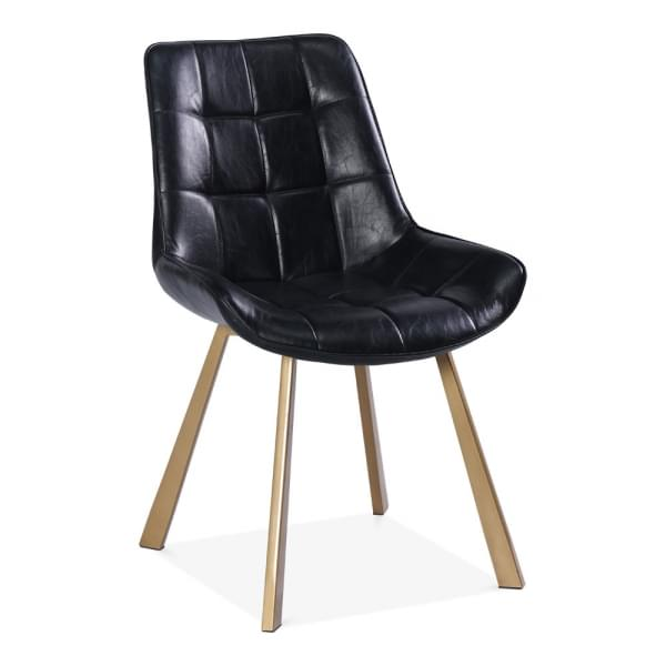 Black Faux Leather Ellis Dining Chair | Modern Dining Chairs