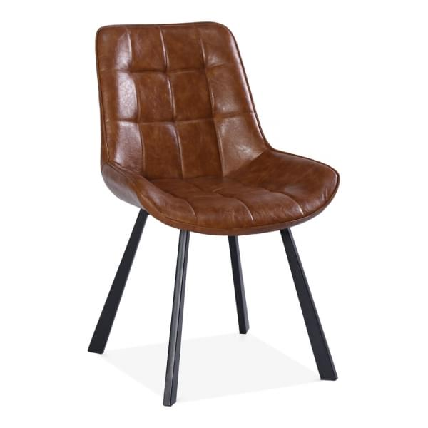 Cool Ellis Dining Chair Faux Leather Upholstered Tan Gmtry Best Dining Table And Chair Ideas Images Gmtryco