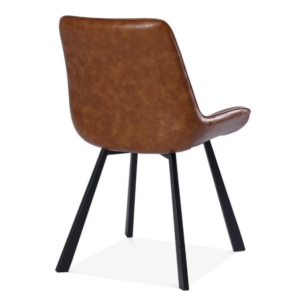 Tan Faux Leather Ellis Dining Chair Modern Dining Chairs