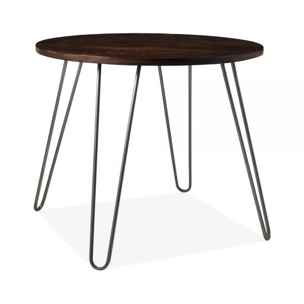 Gunmetal Epping Round Hairpin Dining Table Dining Furniture