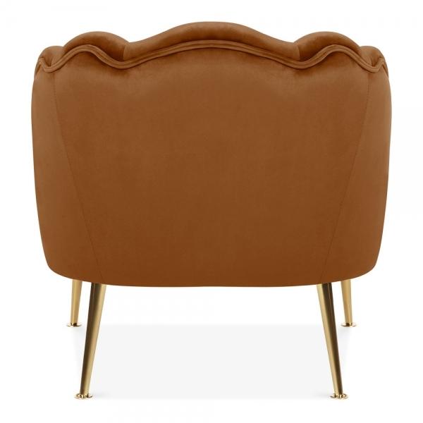 Superb Evelyn Accent Chair Velvet Upholstered Burnt Orange Pdpeps Interior Chair Design Pdpepsorg