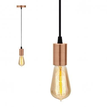 Design Classics Lighting Modern Hanging Globe Intended Hopper Hanging Bulb Holder Pendant Light Copper Designer Ceiling Lights Modern Retro Lamps Cult Uk
