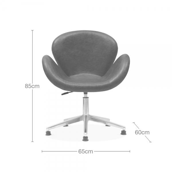 Brilliant Ida Aviator Swan Chair Faux Leather Upholstered Tan Beatyapartments Chair Design Images Beatyapartmentscom