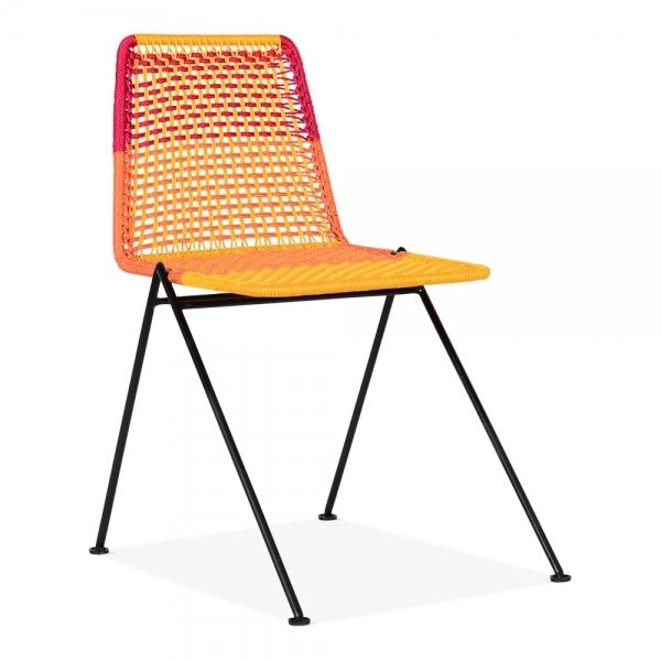 Multi Coloured Ivone Woven Cord Garden Chair Outdoor Furniture