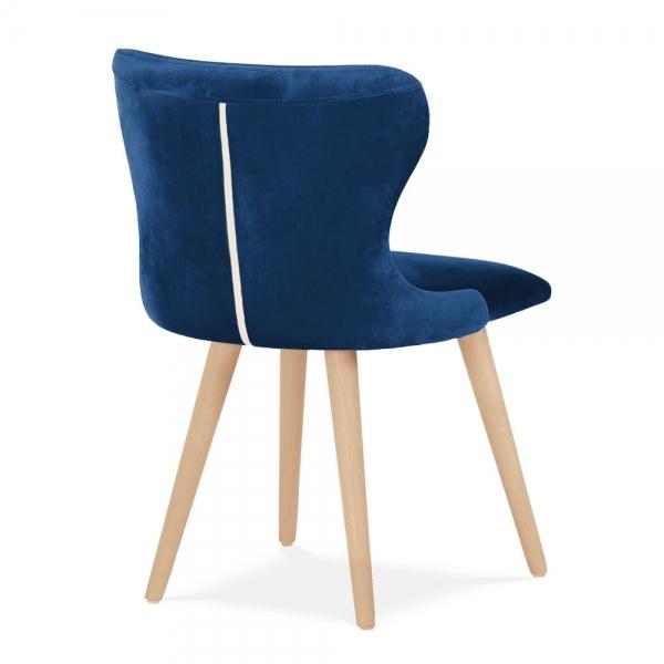 Kensington Wingback Dining Chair, Velvet Upholstered, Royal Blue
