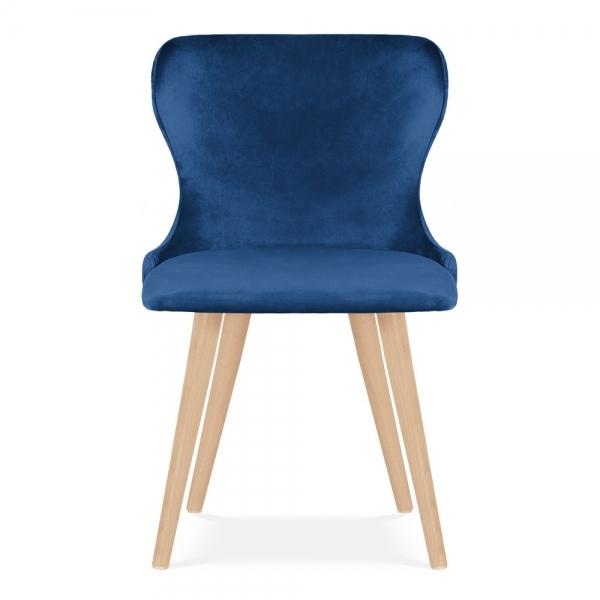 Cult Living Kensington Wingback Dining Chair Velvet Upholstered Royal Blue