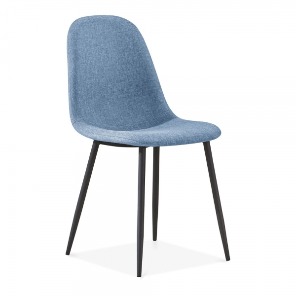 Cult Living Lilla Dining Chair Fabric Upholstered Light Blue