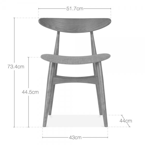 Pleasant Malmros Upholstered Dining Chair Walnut Cool Grey Ibusinesslaw Wood Chair Design Ideas Ibusinesslaworg