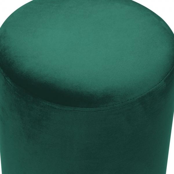 Admirable Cult Living Marie Footstool Velvet Upholstered Forest Green Theyellowbook Wood Chair Design Ideas Theyellowbookinfo