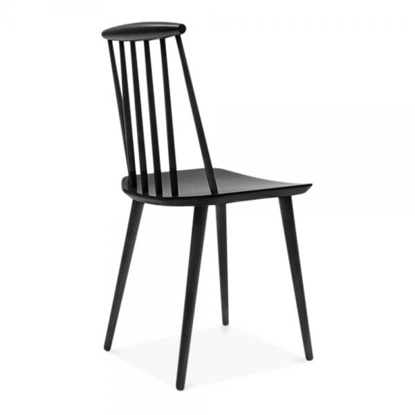 Cult Living Mavis Wooden Dining Chair   Black