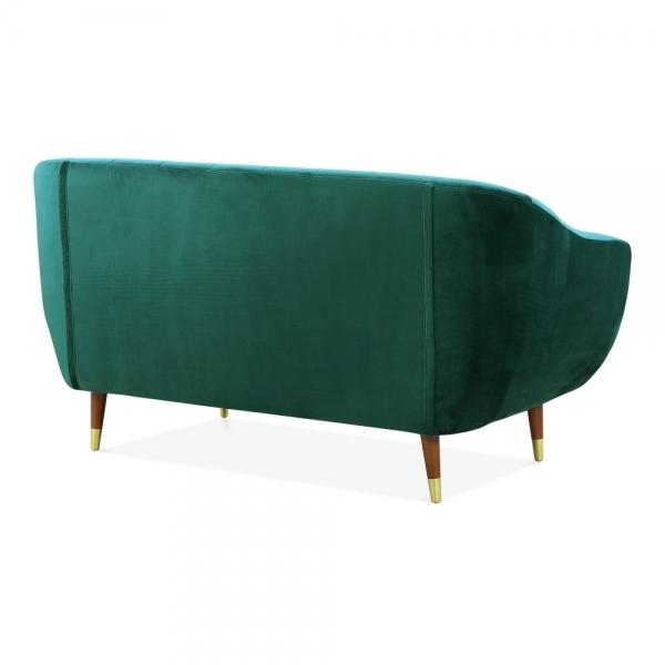Cult Living Melvin 2 Seater Loveseat Sofa Velvet Upholstered Dark Teal