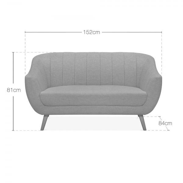 Pleasant Melvin 2 Seater Sofa Velvet Upholstered Royal Blue Uwap Interior Chair Design Uwaporg