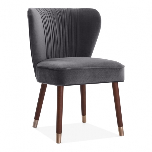 Mdison Accent Chair Charcoal Velvet: Charcoal Grey Velvet Upholstered Noa Accent Chair