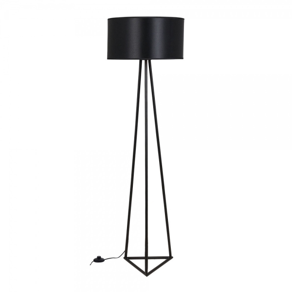 Black orion metal floor lamp modern floor lighting cult living orion geometric metal floor lamp black aloadofball Image collections