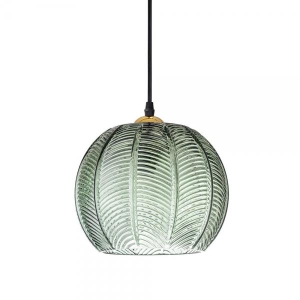 Retro Palm Leaf Glass Pendant Light   Modern Lighting