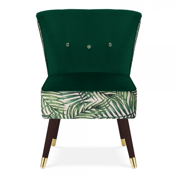 Modern Unique Accent Chairs.Penelope Accent Chair Fabric Upholstered Green Leaf