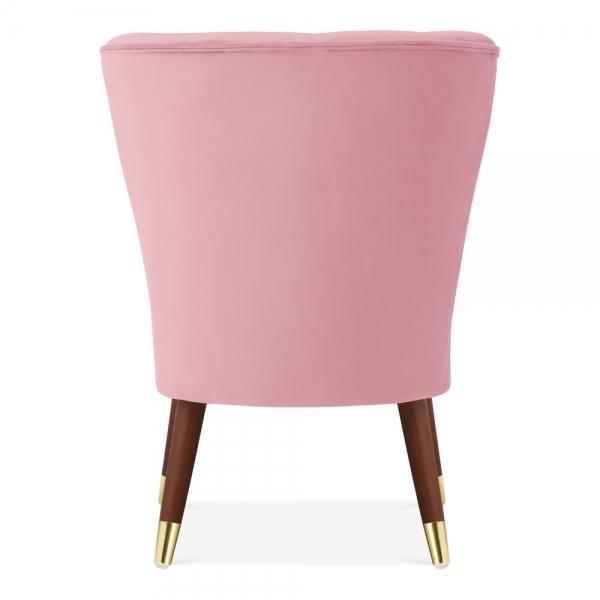 Superb Penelope Accent Chair Velvet Upholstered Blossom Pink Evergreenethics Interior Chair Design Evergreenethicsorg