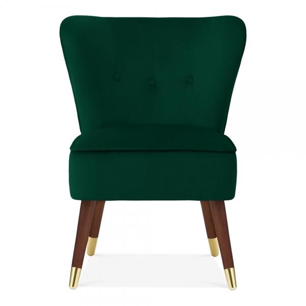 Astonishing Penelope Accent Chair Velvet Upholstered Forest Green Ncnpc Chair Design For Home Ncnpcorg