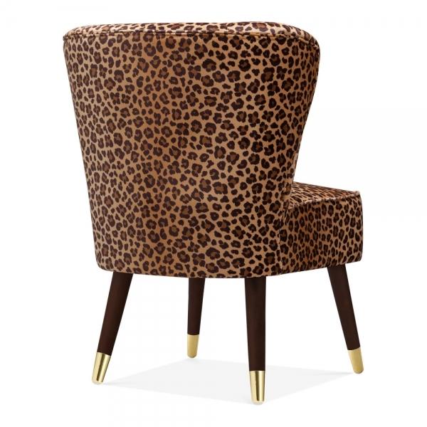 Terrific Cult Living Penelope Accent Chair Velvet Upholstered Leopard Print Forskolin Free Trial Chair Design Images Forskolin Free Trialorg