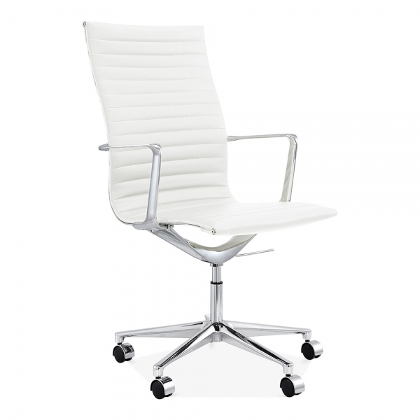 Cult Living Ribbed Office Chair With High Back White