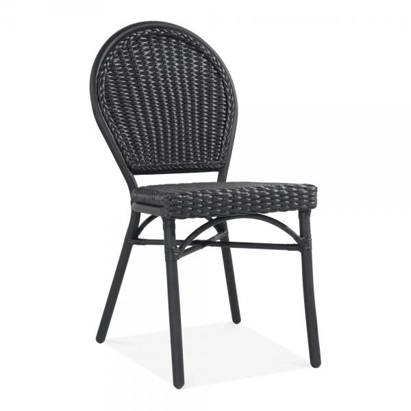 Admirable Seymour Outdoor Dining Chair Black Rattan Short Links Chair Design For Home Short Linksinfo