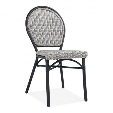 Seymour Outdoor Dining Chair, Grey Rattan