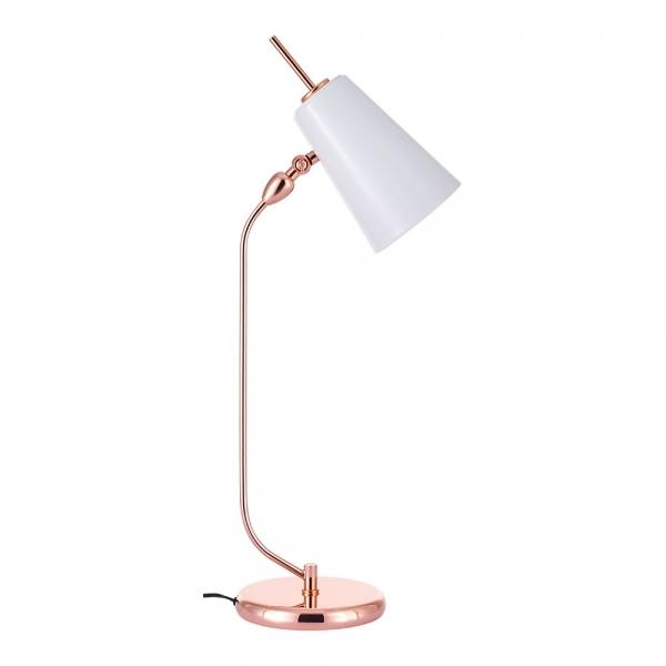 soho living lighting. Cult Living Soho Metal Desk Lamp, Rose Gold And White Lighting