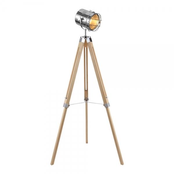 Cult Living Spotlight Tripod Floor Lamp Natural And Chrome