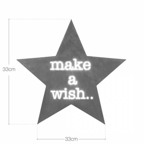 Star Metal Light Box - Make A Wish