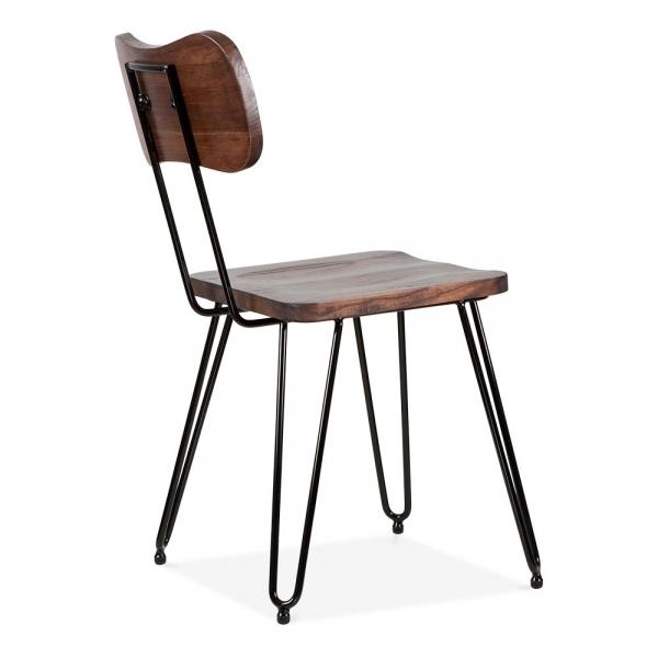 Etonnant Cult Living Susa Metal Hairpin Dining Chair, Black