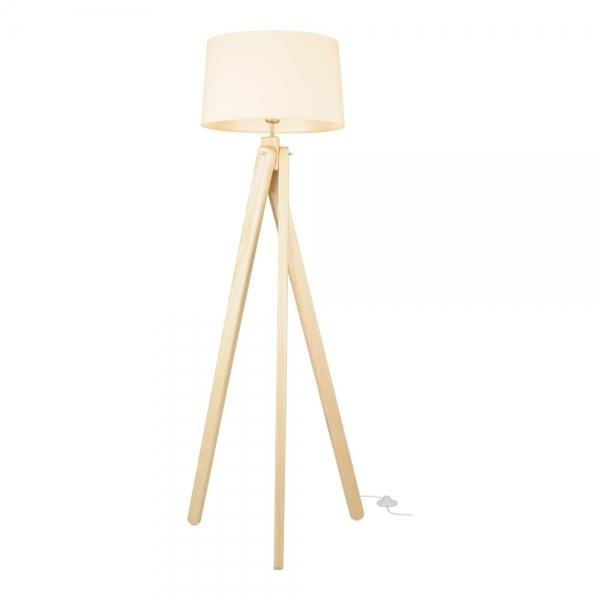 Cult Living Tripod Wooden Floor Lamp Natural Wood