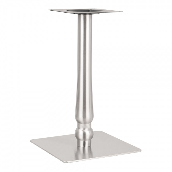 Tronti Stainless Steel Cafe Table Base Chrome Finish