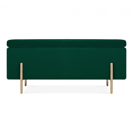 Green Velvet Upholstered Storage Bench Ottoman Velvet