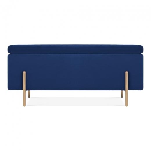 Blue Velvet Upholstered Storage Bench Ottoman Velvet Storage