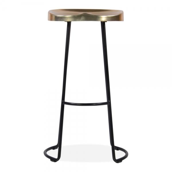Tremendous Victoria Metal Bar Stool With Gold Seat Black 70Cm Inzonedesignstudio Interior Chair Design Inzonedesignstudiocom