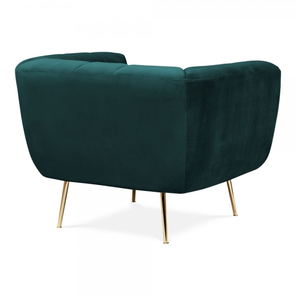 Terrific Vivienne Armchair Velvet Upholstered Dark Teal Lamtechconsult Wood Chair Design Ideas Lamtechconsultcom