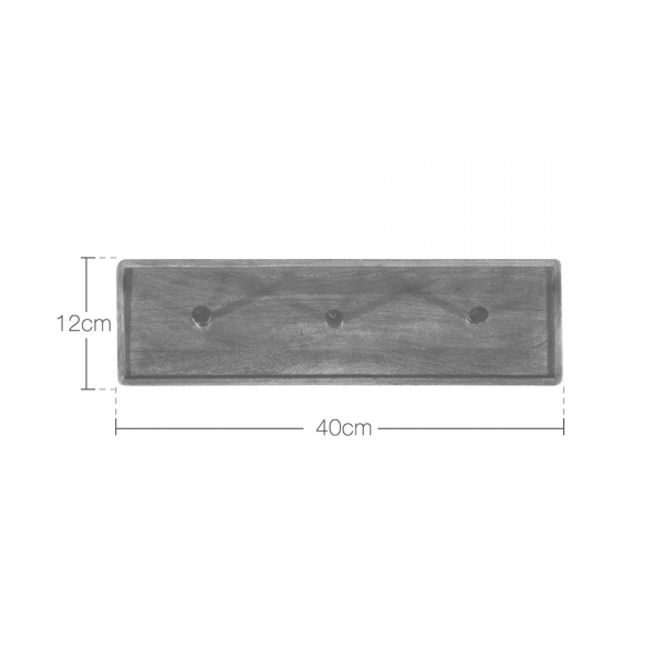 Wall Mounted Coat Hooks Reclaimed Wood Brown