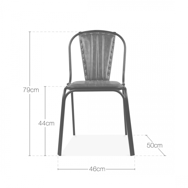 Enjoyable Whitney Leather Upholstered Studded Dining Chair Black Gmtry Best Dining Table And Chair Ideas Images Gmtryco