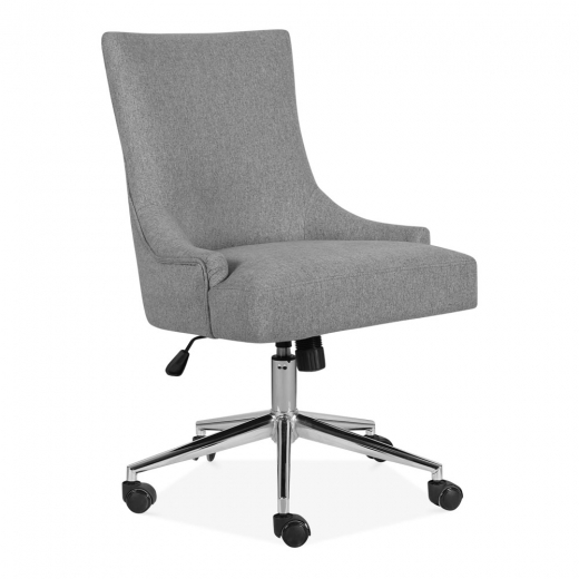 Yuma Light Grey Upholstered Lounge Swivel Chair Office