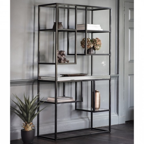 Black Zurl Open Display Unit Contemporary Shelves And