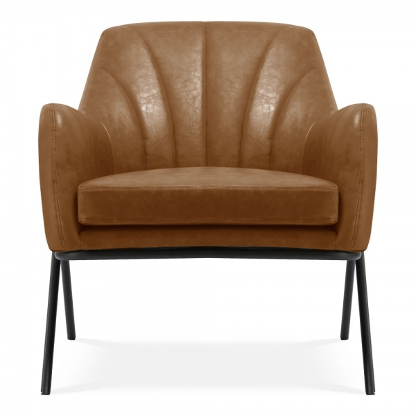 Awesome Bailey Accent Armchair Faux Leather Upholstered Vintage Tan Ocoug Best Dining Table And Chair Ideas Images Ocougorg