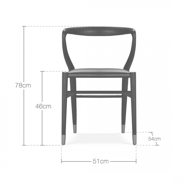 Superb Brooke Wooden Dining Chair Faux Leather Upholstered Seat Black Squirreltailoven Fun Painted Chair Ideas Images Squirreltailovenorg