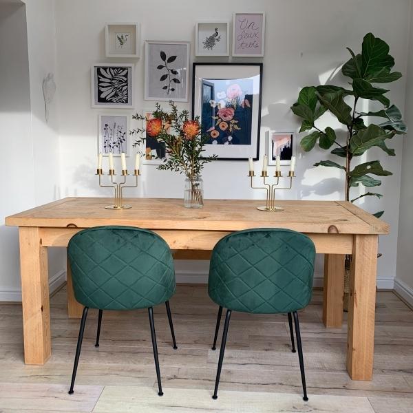 Venta Green Chairs For En Stock, Green Velvet Dining Room Chairs